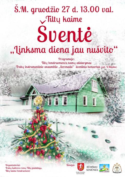 Tiltų kaimo Kalėdinis plakatas
